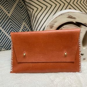 Noonday Collection Genuine Leather Envelope Clutch